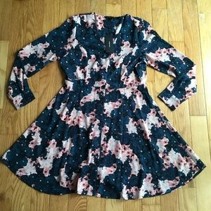 Vero Moda Millie L/S Short Shirt Dress Floral